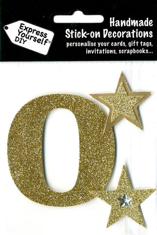 Large,Gold,Glitter,Number,0,Craft, Toppers, Large Numbers, Gold, Glitter