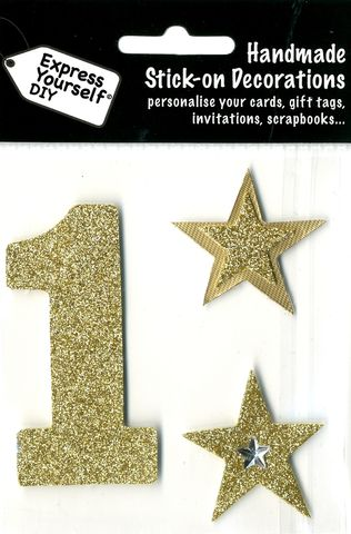 Large,Gold,Glitter,Number,1,Craft, Toppers, Large Numbers, Gold, Glitter