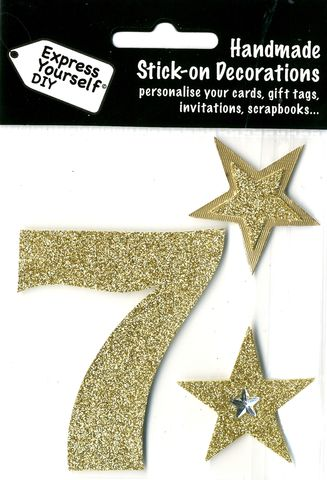 Large,Gold,Glitter,Number,7,Craft, Toppers, Large Numbers, Gold