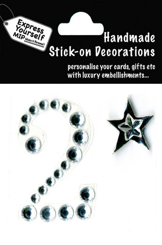 Handmade,stick,on,numbers,-,Mini,Rhinestone,Number,2,stick-on numbers, craft, handmade, Rhinestone , Star
