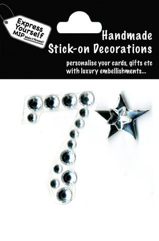 Handmade,stick,on,numbers,-,Mini,Rhinestone,Number,7,stick-on numbers, craft, handmade, Rhinestone , Star