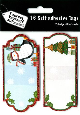 Tags,-,Penguin,&,Tree,Craft, Christmas, Toppers, Penguin & Tree