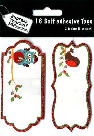 Tags,-,Owl,&,Robin,Craft, Christmas, Toppers, Owl & Robin
