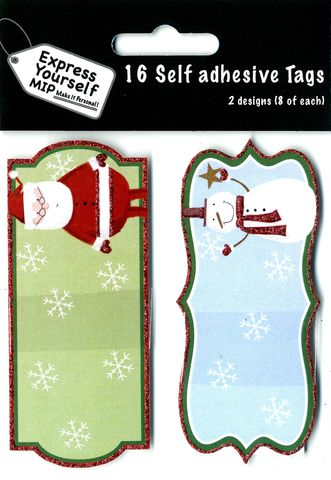 Tags,-,Santa,&,Snowman,Craft, Christmas, Toppers, Santa & Snowman