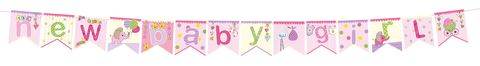Bunting,-,New,Baby,Girl,Craft, DIY, MIP, Make It Personal, Card Making, Personalised, Scrapbooks, Bunting, Baby Girl, Pink, Letters, Icons
