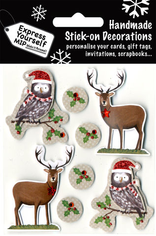 Reindeer,&,Owls,Craft, Christmas, Christmas decorations, handmade, Toppers, Reindeer & Owls