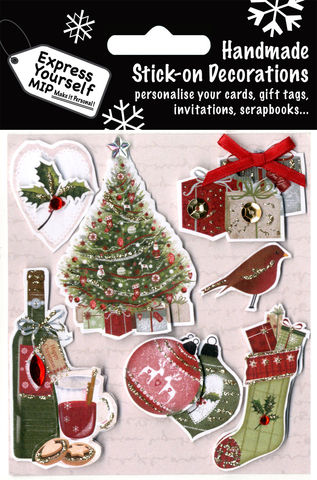 Traditional,Tree,,Wine,Stocking,&,Baubles,Craft, Christmas, Christmas decorations, handmade, Toppers, Traditional Tree, Wine Stocking & Baubles
