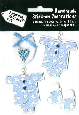 Baby,Clothes,&,Booties,(Blue),Craft, Baby, Icons, Clothes, Booties, Boy
