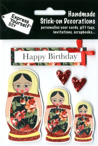 Russian,Dolls,&,Birthday,Tag,Craft, Russian Dolls, Birthday Tag