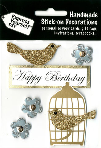 Gold,Bird,&,Birdcage,Craft, Gold Bird, Birdcage, Birthday