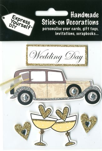 Vintage,Car,&,Banner,Craft, Vintage Car, Banner, Wedding Day