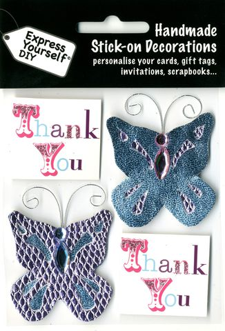 Butterflies,&,Thank,You,Tag,Craft, Butterflies, Tags, Thank You