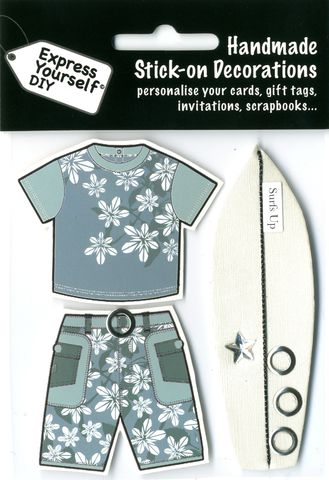 Surfing,Board,&,Clothes,Craft, Surfing Board, Clothes