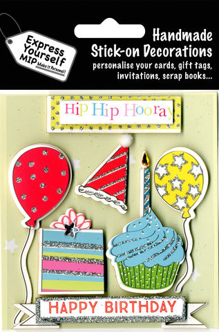 Birthday,Party,Items,Craft, Birthday, Party, Cake, Balloons, Hat, Happy Birthday, Candle, Cupcake, Hip Hip Hooray Banner, Topper