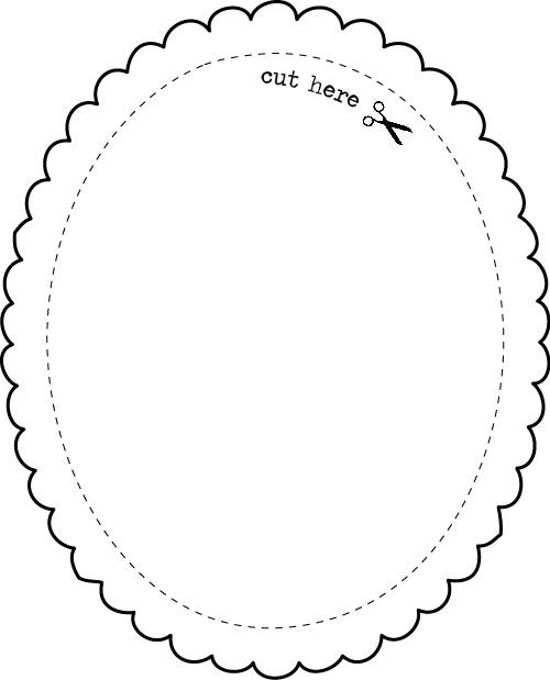 Templates - Oval Frame - EXPRESS YOURSELF DIY