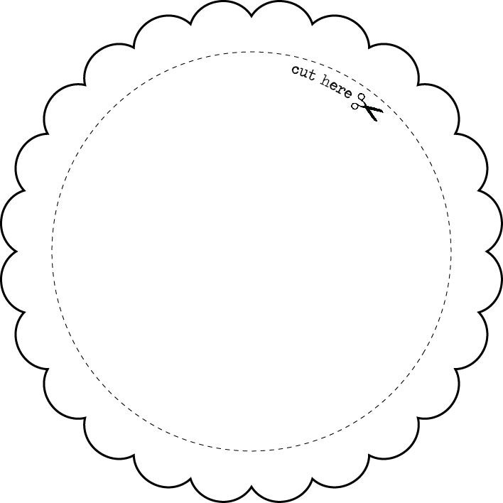 Templates - Round Frame - EXPRESS YOURSELF DIY