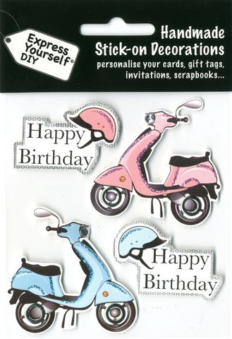 Mopeds,&,Happy,Birthday,Tags,Craft, Mopeds, Happy Birthday Tags