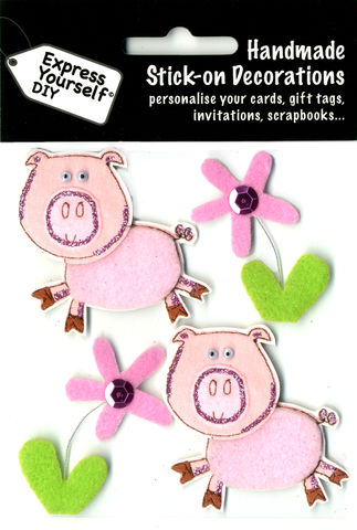Pigs,With,Flowers,Craft, Pigs, Flowers