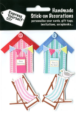 Beach,Huts,&,Deckchairs,Craft, Beach Huts, Deckchairs