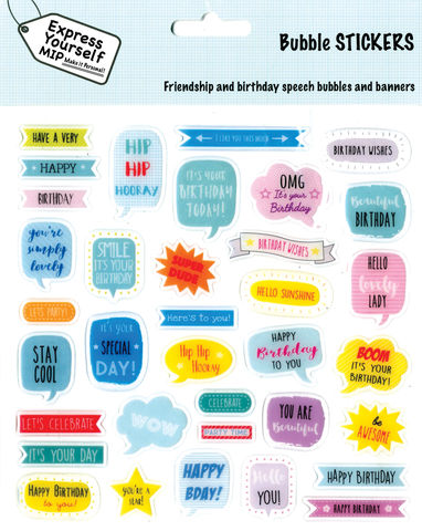 Stickers,-,Speech,bubbles,Craft, DIY, MIP, Make It Personal, Personalised, Stickers, On Your Birthday, Stick On Decoration, Fun, Icons, Banners, Magical, Party, Speech, Words., Bubbles