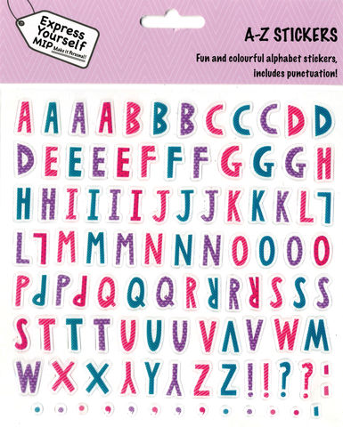 Stickers,-,Alpha,Pack,(,A-Z,Female),Craft, DIY, MIP, Make It Personal, Personalised, Stickers, On Your Birthday, Stick On Decoration, Fun, Icons, Banners, A-Z, Alphabet, Letters, Female, Alpha