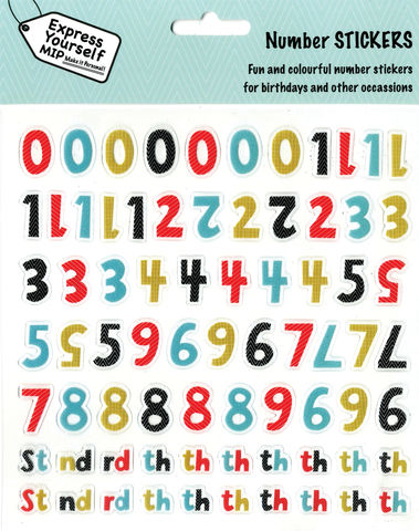 Stickers,-,Numeric,Pack,(Male),Craft, DIY, MIP, Make It Personal, Personalised, Stickers, On Your Birthday, Stick On Decoration, Fun, Icons, Banners, Numbers, Numeric, th, Male