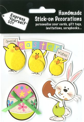 Chicks,&,Bunny,With,Egg,Craft, Easter, Chicks, Egg, Bunny, Toppers