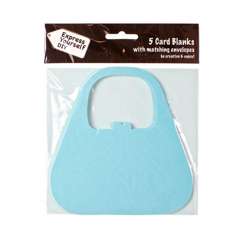 Blue,Bag,Craft, Blue, Card Blanks, Bag, Shaped