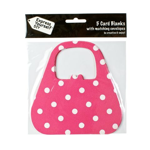 Pink,Spotty,Bag,Craft, Pink, Card Blanks, Bag, Spotty, Shaped
