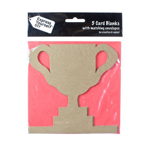 Trophy,Craft, Brown, Card Blanks, Trophy, Shaped