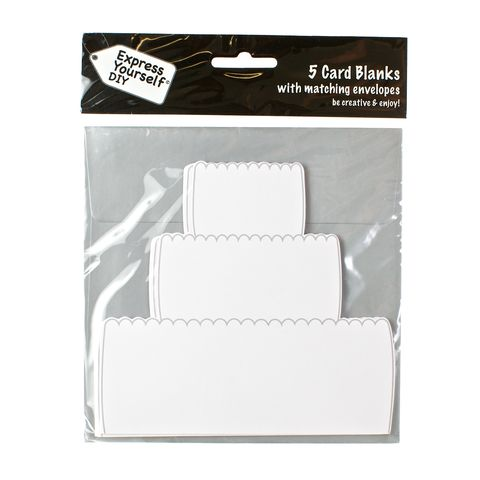 Cake,Craft, White, Card Blanks, Cake, Shaped