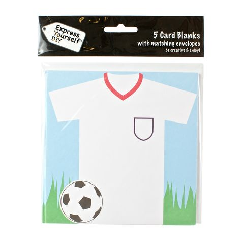 Football,Shirt,&,Ball,Craft, White, Card Blanks, Football Shirt, Ball, Shaped