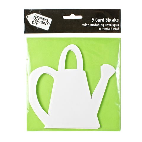 Watering,Can,Craft, Green, Card Blanks, Watering Can, Shaped