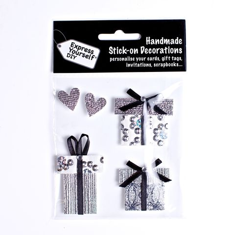 Gift,Boxes,&,Hearts,Craft, Hearts, Gift Boxes, Silver