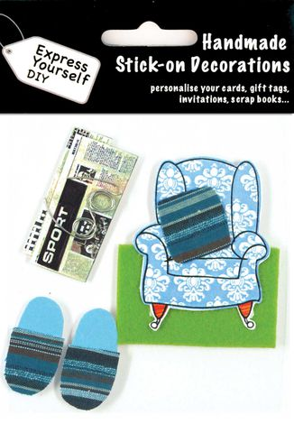 Armchair,,Newspaper,&,Slippers,Craft, Armchair, Newspaper, Slippers