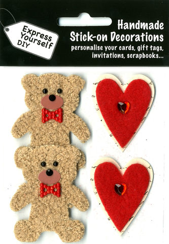 Bears,&,Hearts,Craft, Animals, Bears, Hearts, Red