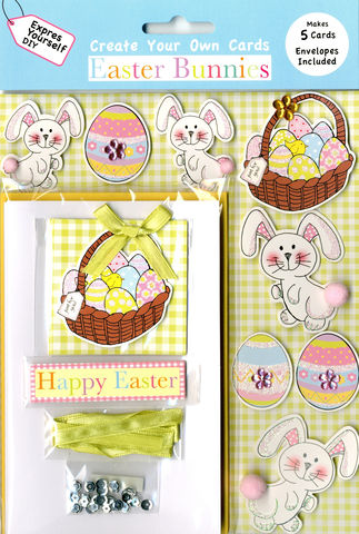 Box,Kits,-,Basket,Of,Eggs,With,Bunnies,Craft, Easter, Bunnies, Egg, Basket Box Kit