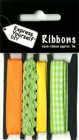 Ribbons,-,Green,Gingham,Craft, Easter, Green Gingham, Ribbons