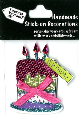 Handmade,(Mini),Stick,On,Parts,-,Birthday,Cake,Stick-on captions, craft, Stick-on captions, Birthday Cake, Candle, Mini Toppers