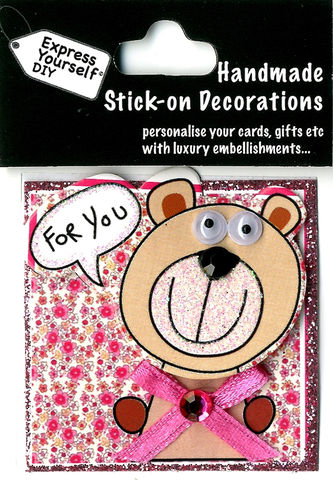 Handmade,(Mini),Stick,On,Parts,-,Bear,Stick-on captions, craft, Stick-on captions, Bear, For You Tag, Mini Toppers