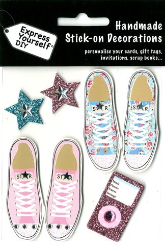 Converse,Shoes,Craft, Converse, Stars, Music Player,Female shoes, Topper