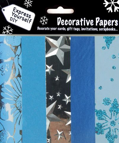 Blue,&,Silver,Papers,Craft, Blue, Silver, Papers, Patterns, Handmade, Pearl