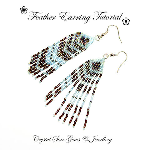 Feather,Earrings,Tutorial,Patterns,Beading,Jewelry,beadwork,beaded,feather,brick_stitch,ladder_stitch,beading,beginner,delica beads