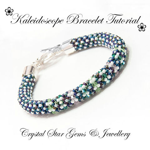 Kaleidoscope,Bracelet,Tutorial,Patterns,Beading,Jewelry,Adapted_Herringbone,Ndbele_Herringbone,EBW_Tutorials,EBW_Team,seed beads,miyuki seed beads,swarovski crystals