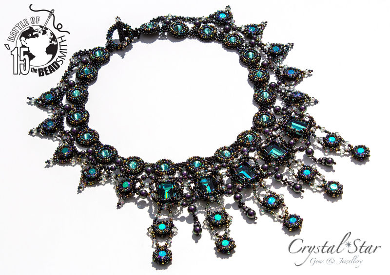 One Of A Kind Persephone Bead Embroidery Necklace With
