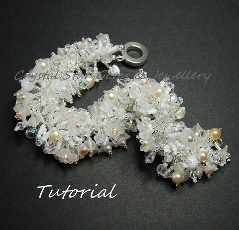 Fringe,Bracelet,Tutorial,Patterns,tutorial,fringe,bracelet,pattern,jewellery,seed beads,pearls,glass beads,flowers,tiger tail,crimps,crimp covers