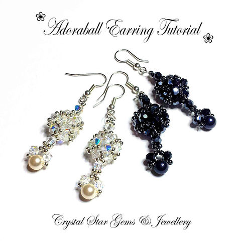 Adoraball,Beading,Tutorial,Patterns,Jewelry,Beading_tutorial,pattern,earrings,dangling_earrings,beadwoven,crystal,drop,long_earrings,beaded,tutorial,seed beads,crystals,shepherd hooks and jump rings