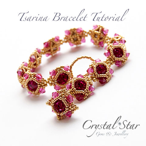 Tsarina,Bracelet,Tutorial,Patterns,Beading,Jewelry,jewellery,bracelet,pattern,tutorial,beading,beaded,bead,seed_bead,crystal,39ss_chaton,tsarina,No11 Seed Beads,4mm faceted rounds,4mm bicones,No15 seed beads,39ss Swarovski Chaton,No11 Delica Beads,Fireline