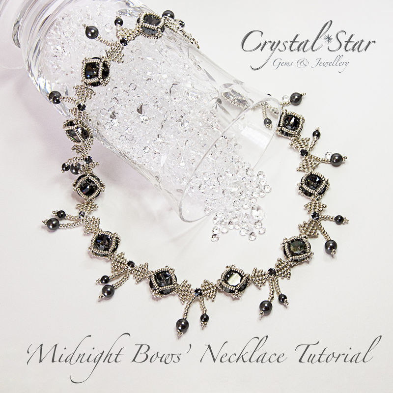 Midnight Bows Necklace Tutorial Crystal Star Gems Jewellery