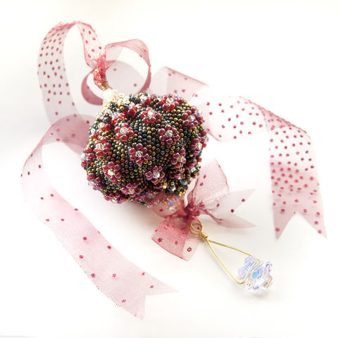 Balloon,Ornament,Tutorial, Pattern, tutorial, beading, bead, how-to, learn, beginner, intermediate, advanced, cheap, PDF, download, tracey lorraine, novice, crystal, swarovksi, miyuki, toho, No.11, No.15, Balloon, Christmas, ornament, bicone, bicones, jewellery, tree